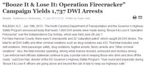 booze it & looze it yields 1737 dwi arrests